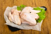 Photo Raw chicken wings ready for cooking