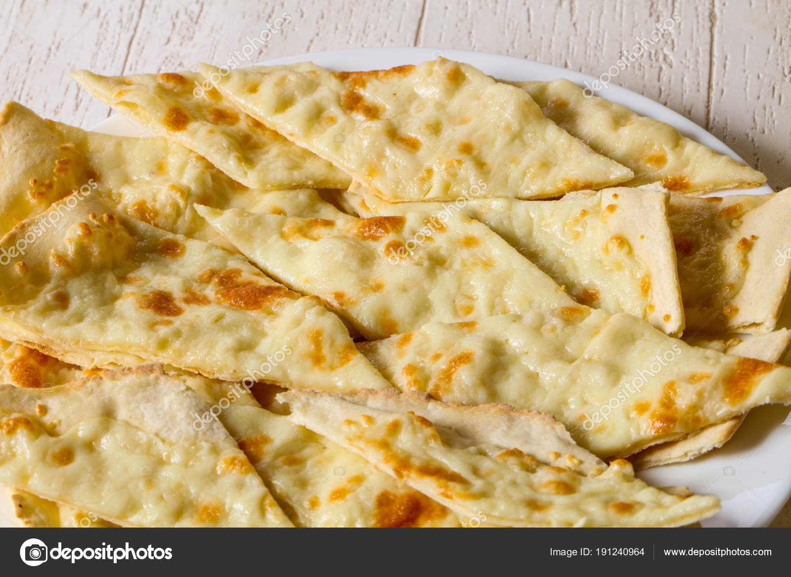 Focaccia Bread Cheese Stock Photo