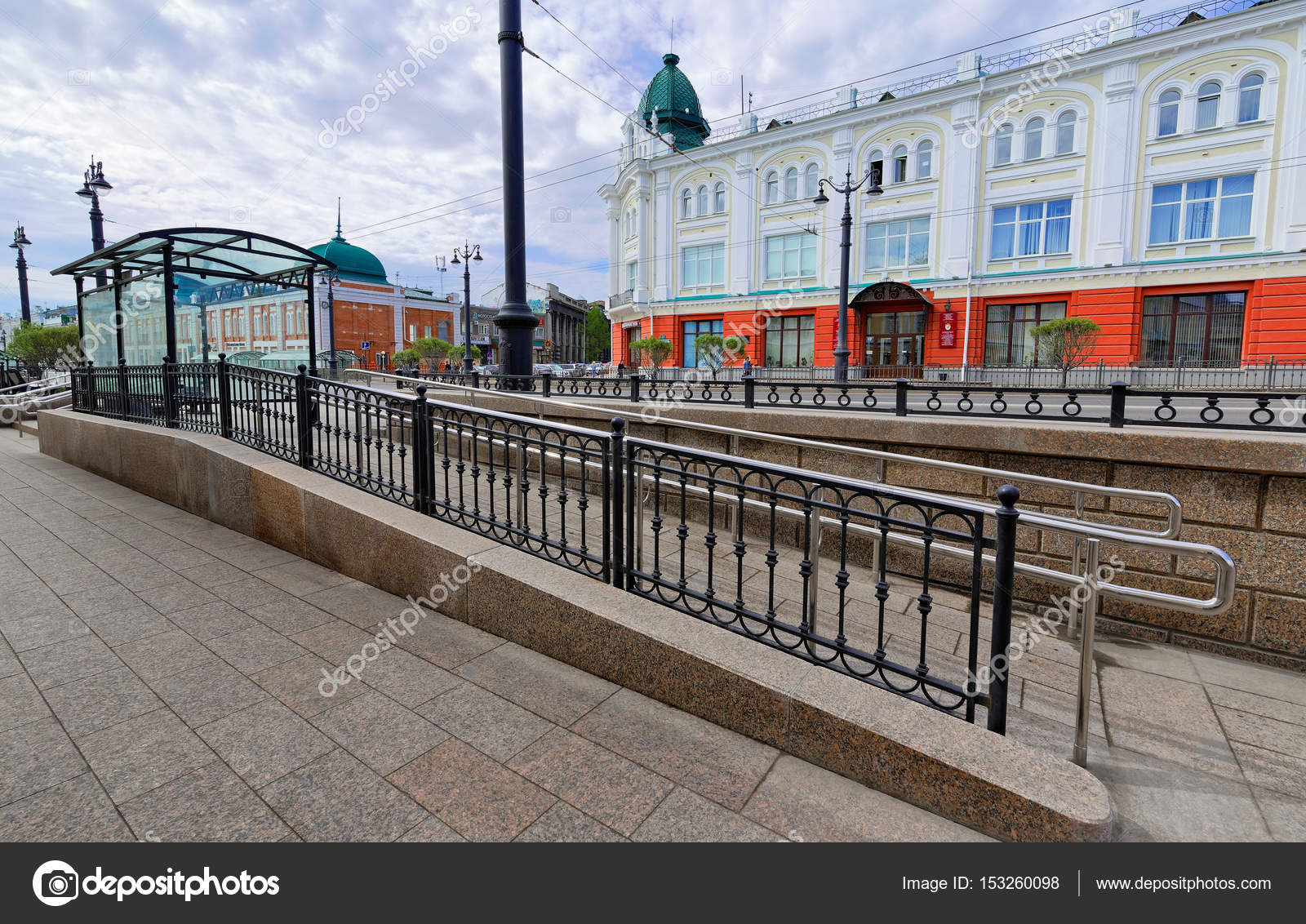 Wheelchair Ramp From The Stopping Complex In Omsk City