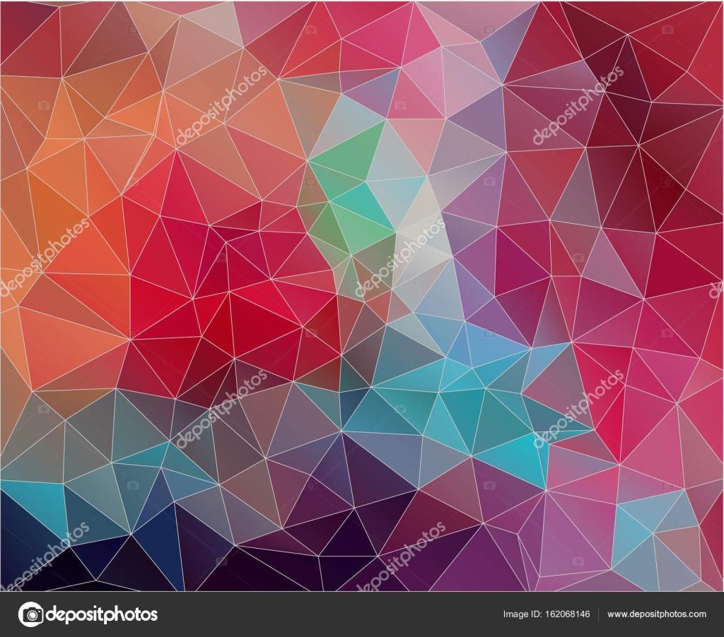 Flache Dreieck Hintergrund Mit Vintage Farbe U2014 Stockvektor