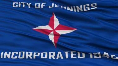 Closeup of Jennings City Flag