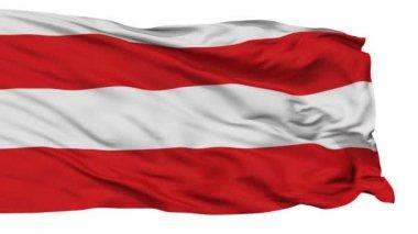 Isolated Brno city flag, Czech Republic