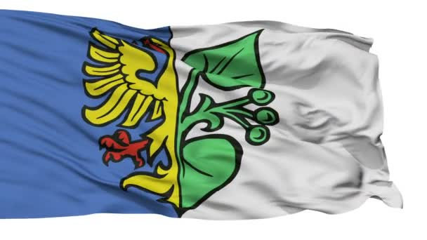 Izolované Karwina vlajka městská vlajka, Česká republika