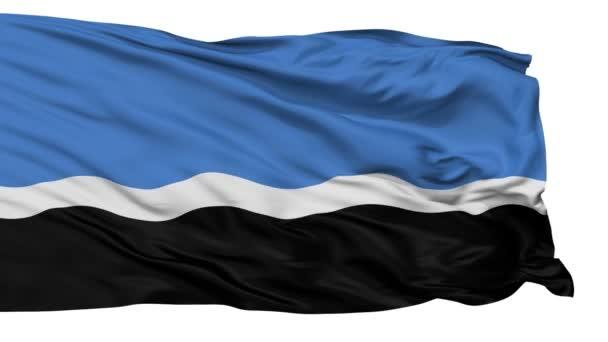 isoliert mustvee jogeva county city flag, Estland