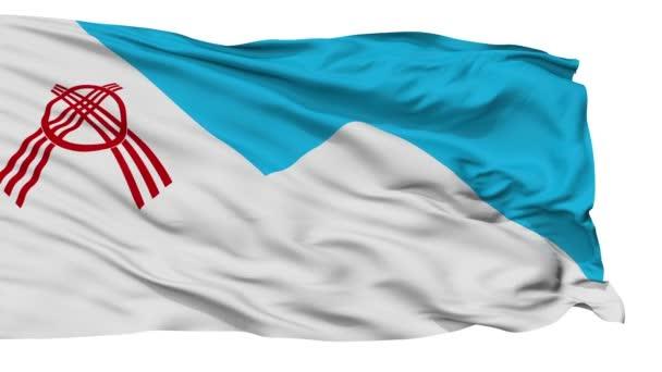 Isolated Osh city flag, Kyrgyzstan