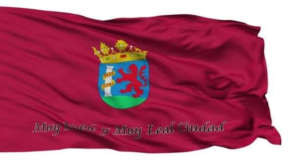 Isolated Badajoz city flag, Spain