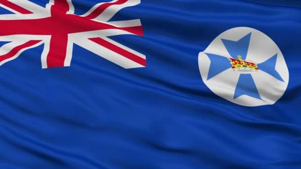 Closeup Queensland city flag, Australia