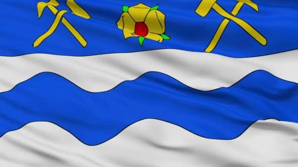 Closeup Havířov městská vlajka, Česká republika