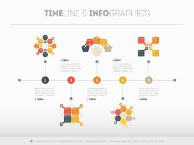 Horizontal Infographic timeline