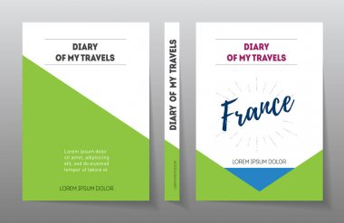 Cover for diary of travels in France