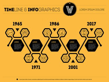 Business infographic timeline with options
