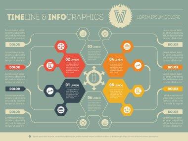 Business timeline infographics