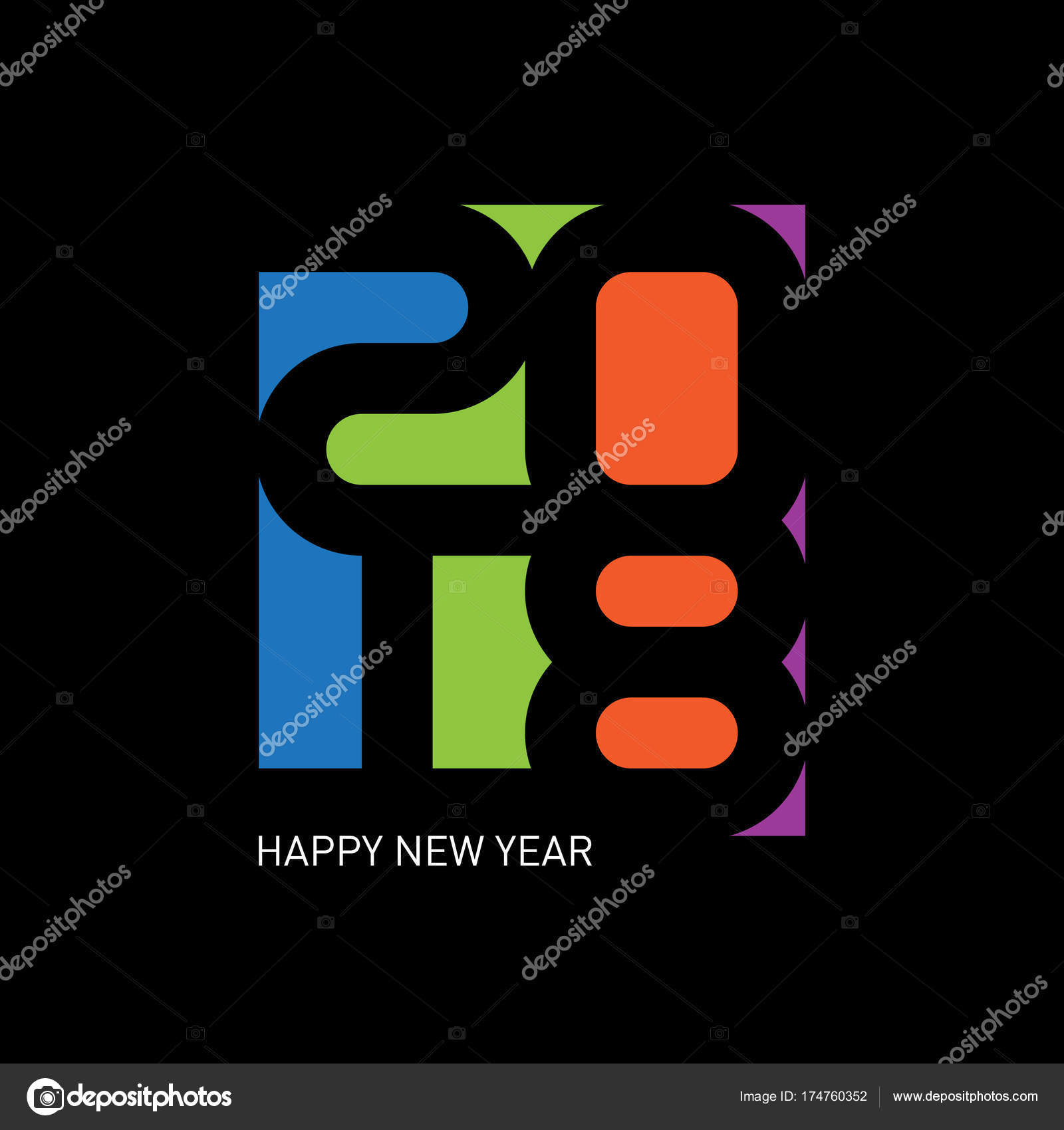 Happy new year 2018 cover business diary 2018 vector greeting happy new year 2018 cover business diary 2018 vector greeting stock vector m4hsunfo