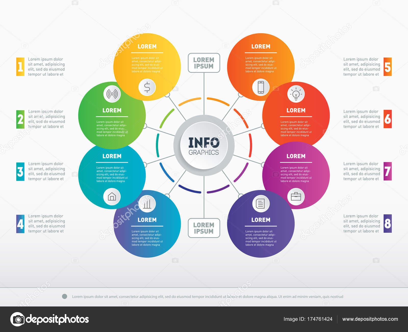 Vektor Infografik Grundlegende Komponenten Des Business Technologie ...