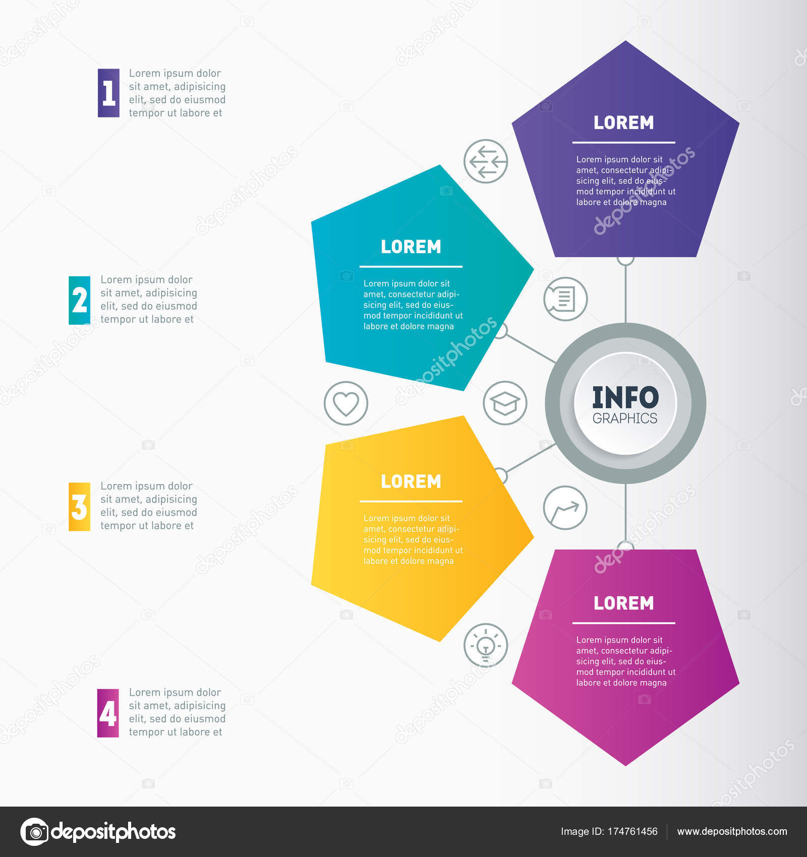 Web Template Chart Mindmap Diagram Steps Vector Dynamic Infographics ...