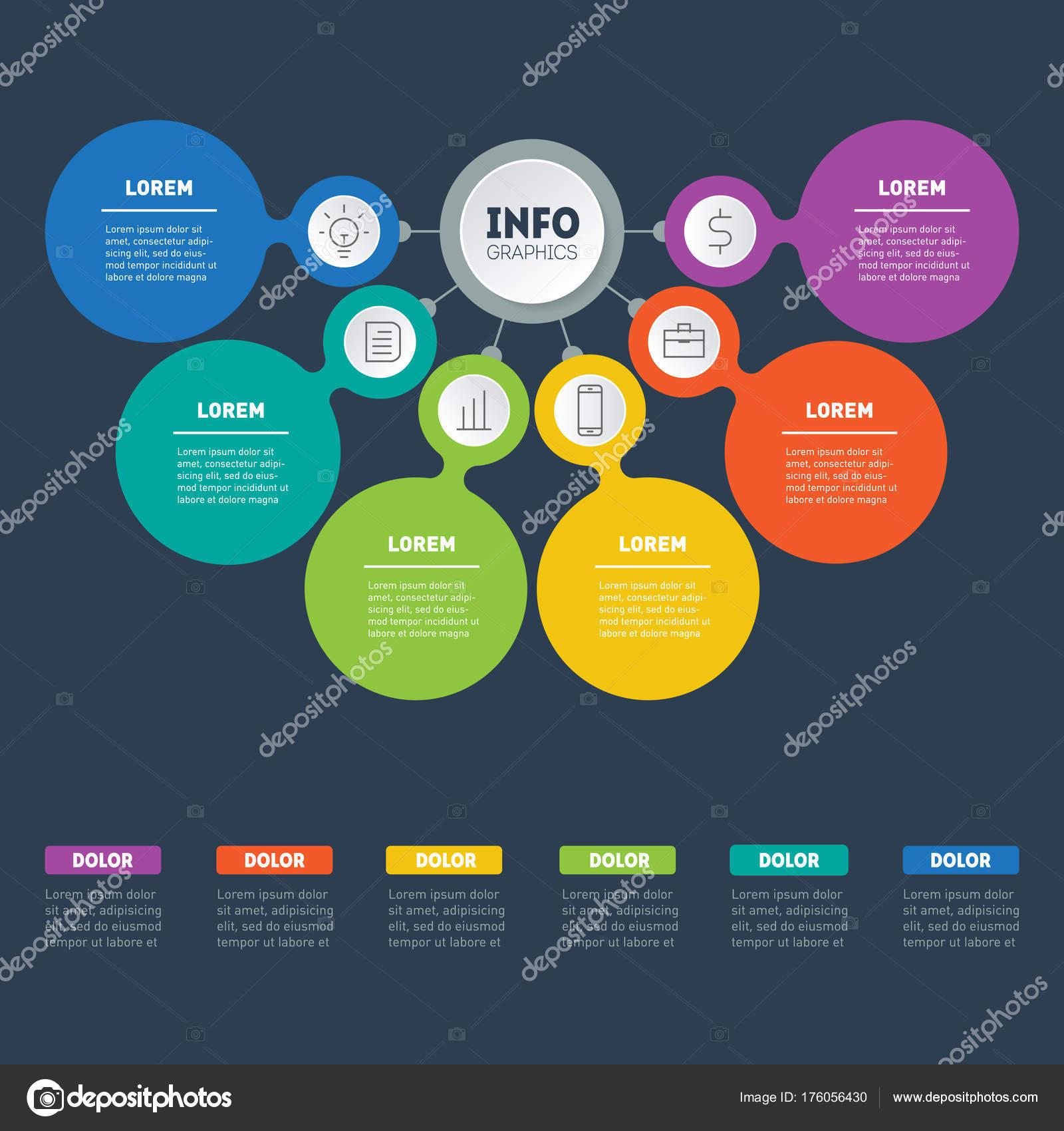 business presentation infographics concept web template info chart