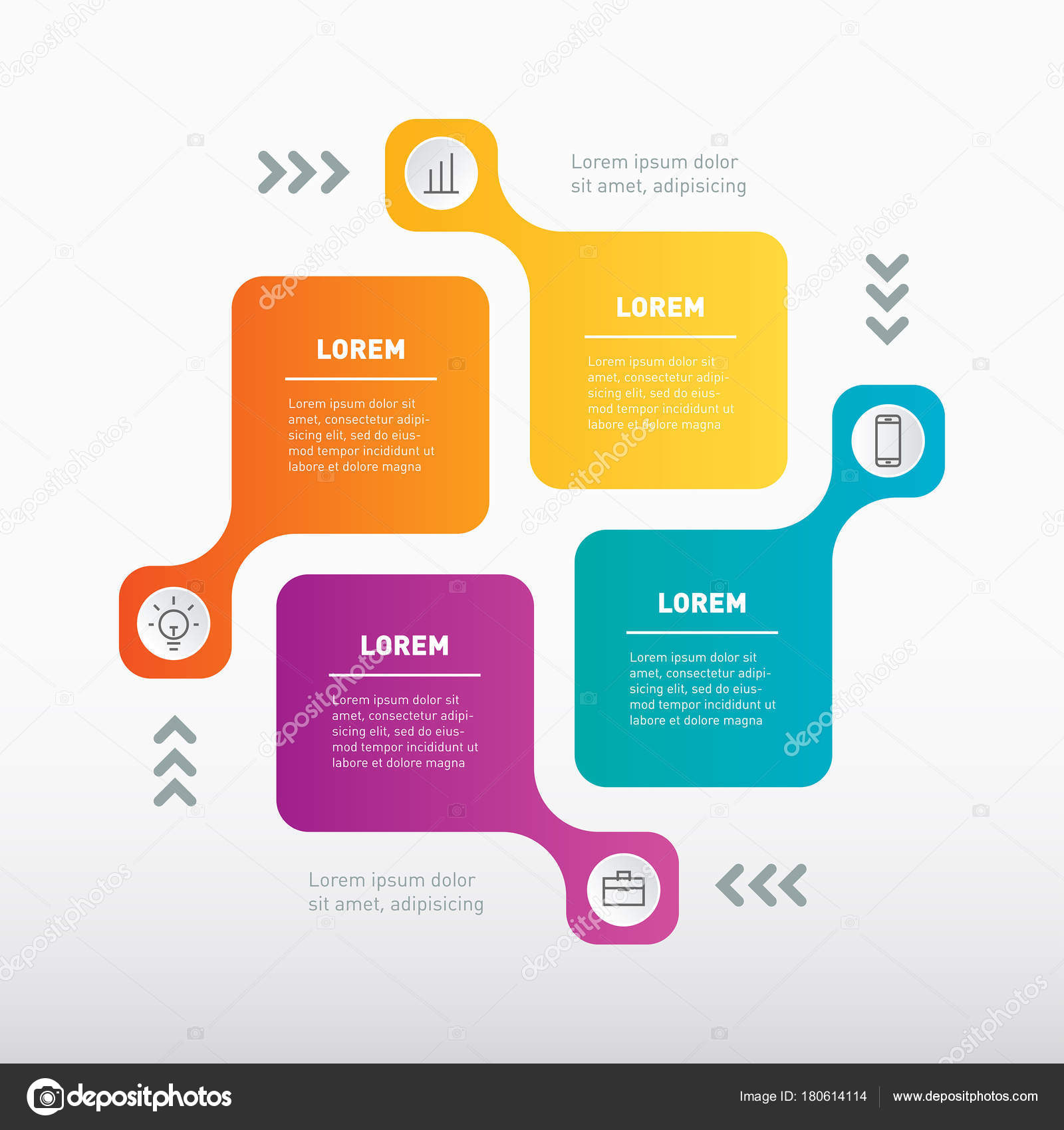 infographic template parts processes steps vector info graphic