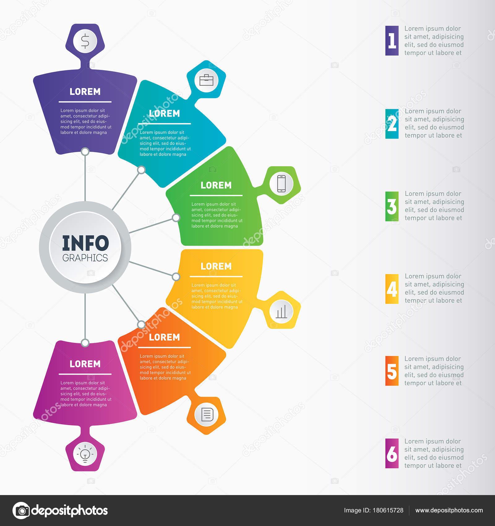 Presentación Del Negocio Infografía Con Opciones Web Plantilla ...