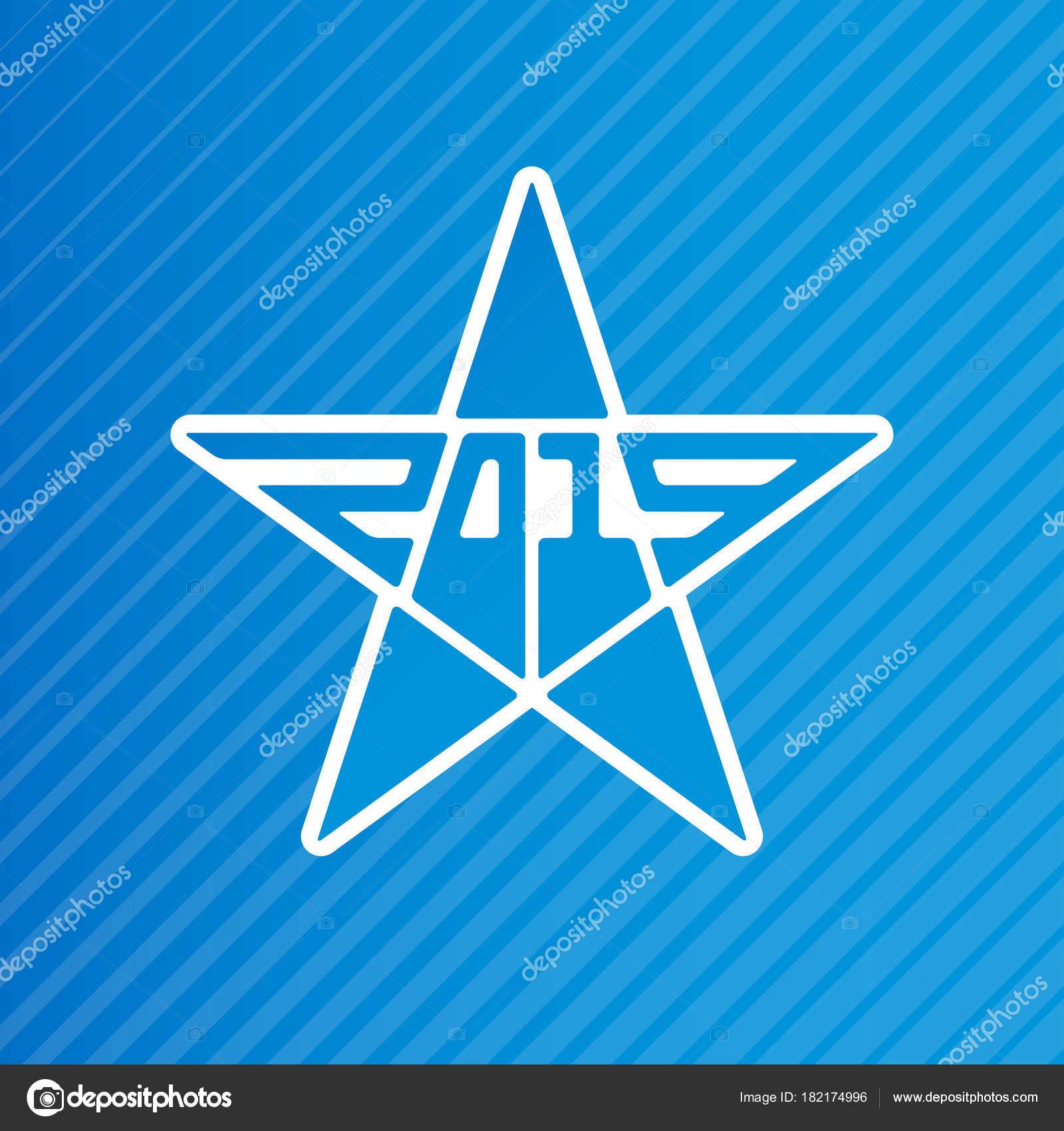 web template invitation new year 2019 star vector illustration logotype stock vector