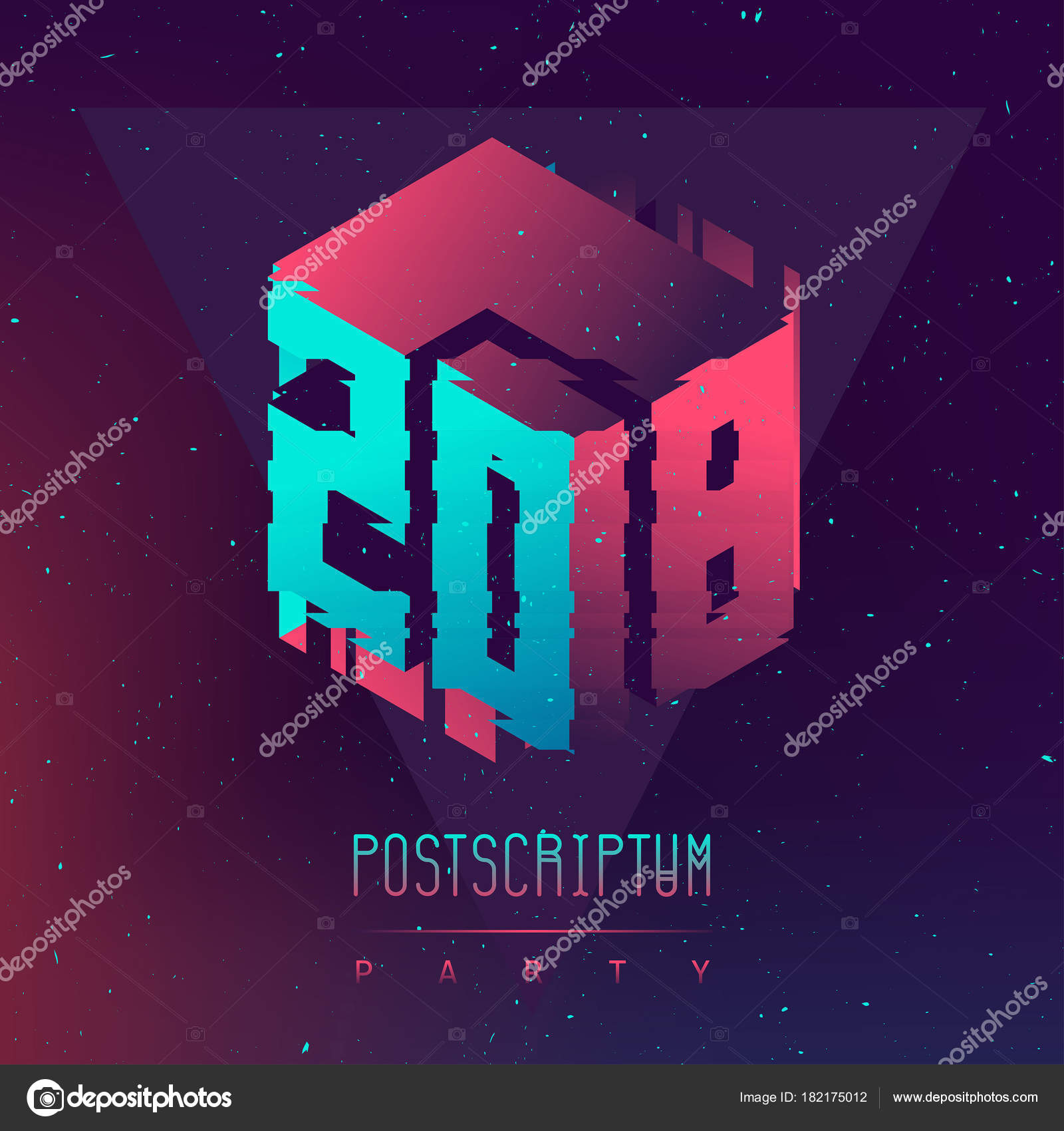 Poster Electronic Music Fest Postscriptum Night Party Club Party