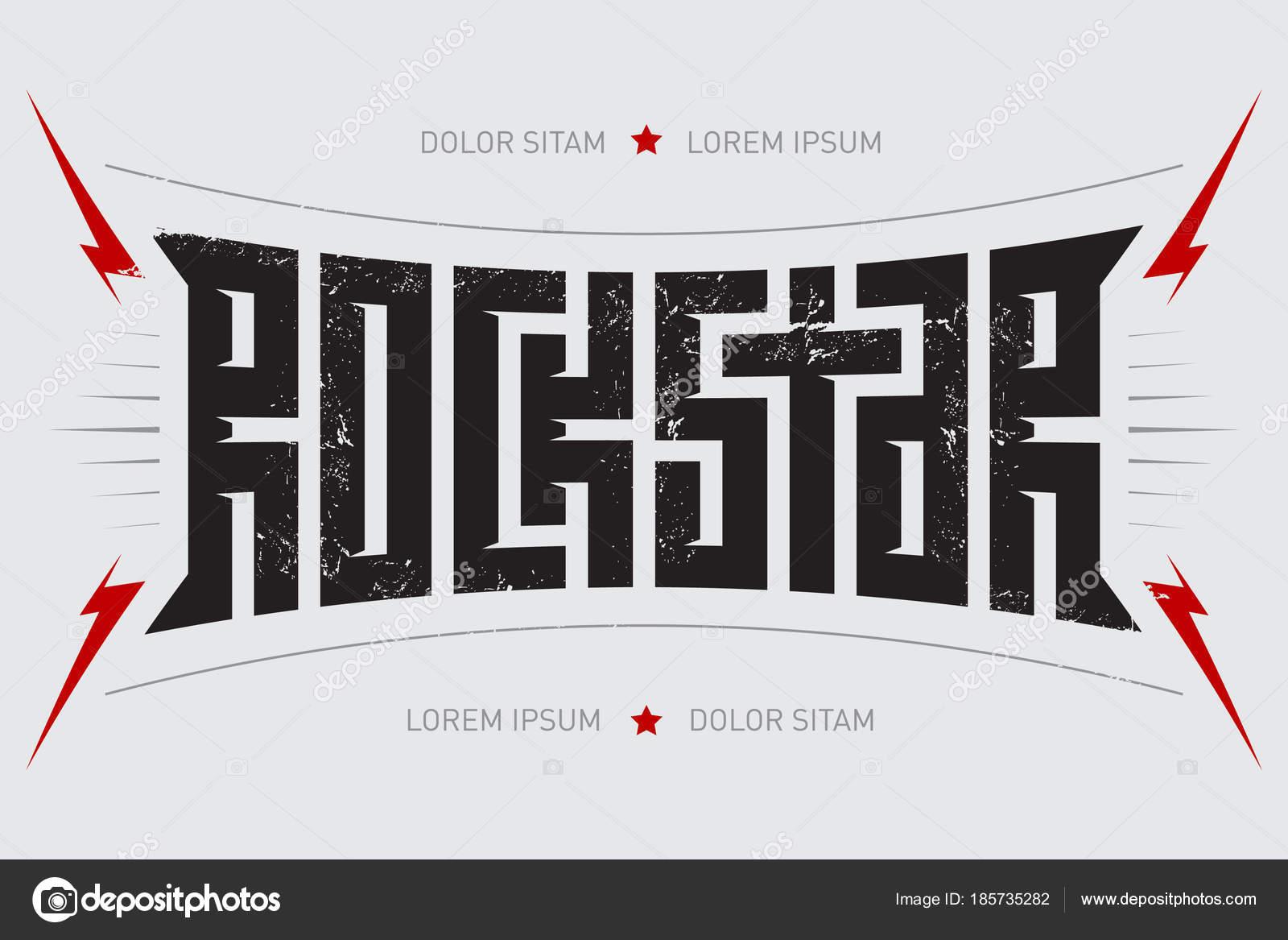 Gwiazda Rocka Projekt Koszulki Rockstar Muzyka Plakat