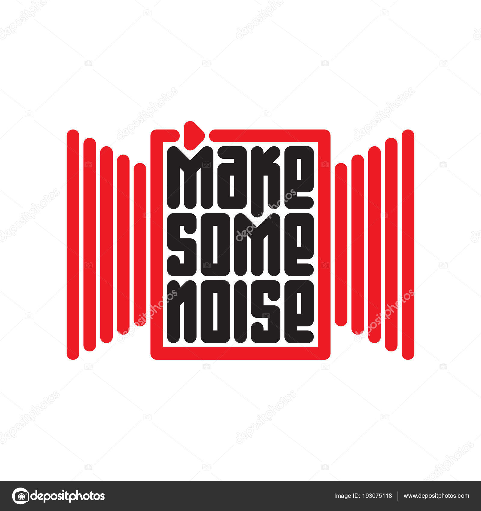 e6f814e0 Make some noise - music poster or t-shirt design with red button