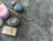 Fotografie Ručně vyráběné mýdlo a lázeňské duchovní kouření hole