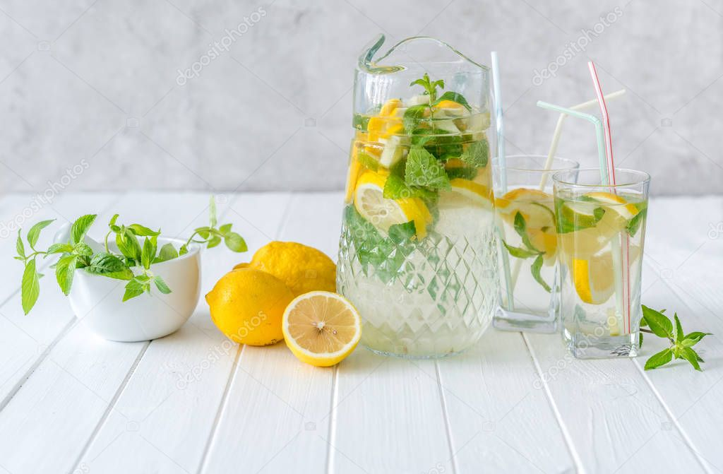 Lemonade and ingredients for its preparation