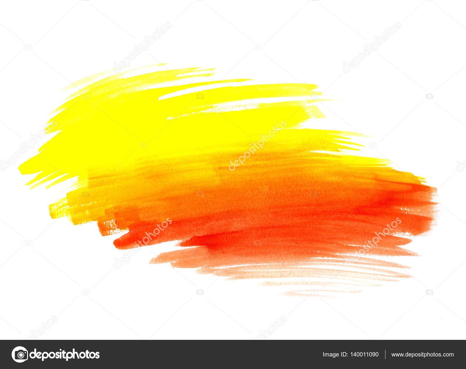 Forma De Pintura Brillante Color Amarillo Y Rojo Sobre