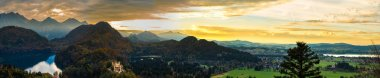 """Картина, постер, плакат, фотообои """"альпы и озера на закате в германии печать архитектура"""", артикул 125780570"""