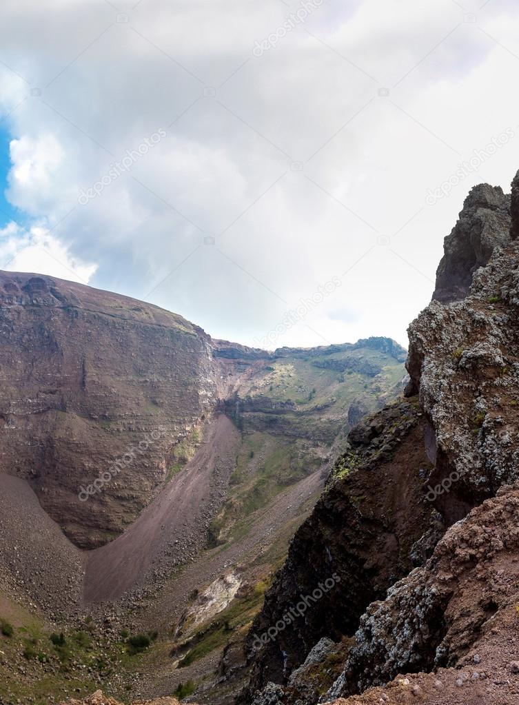 Vesuvius volcano crater, Italy