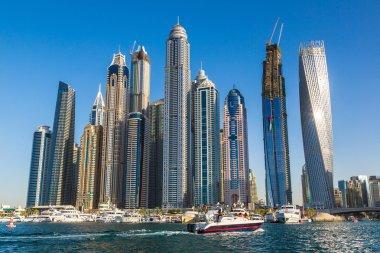 Dubai Marina on a summer day