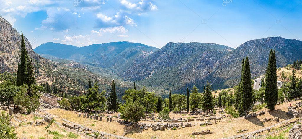 The Athenian treasury in Delphi