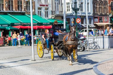 Horse carriage in Bruges