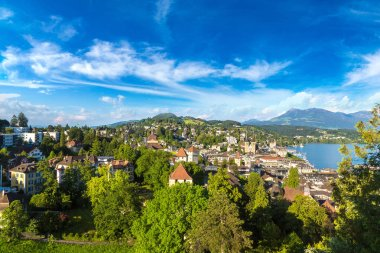 Panoramic aerial view of Lucerne