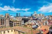 Fotografie Panoramic aerial view of Barcelona