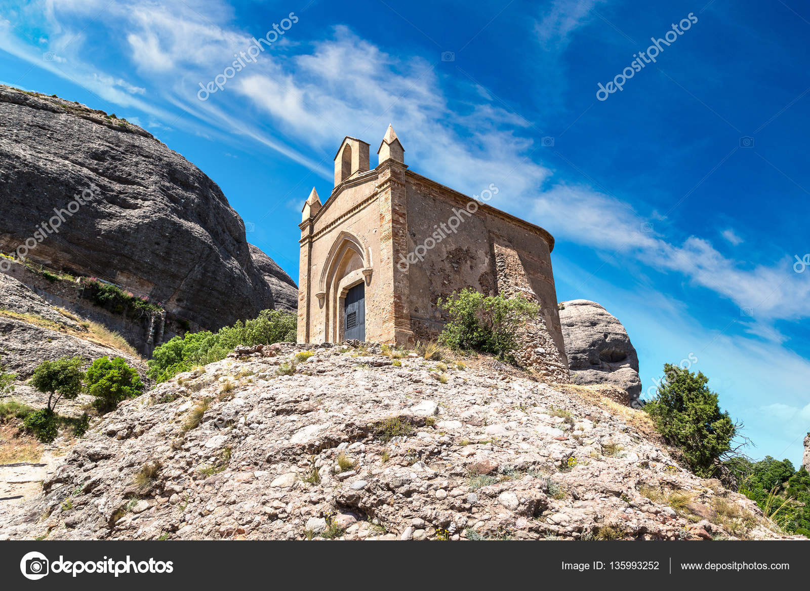 81e3ea7b0c Small church in Montserrat abbey — Stock Photo © bloodua  135993252