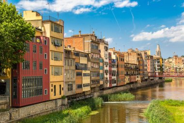 Colorful houses in Girona