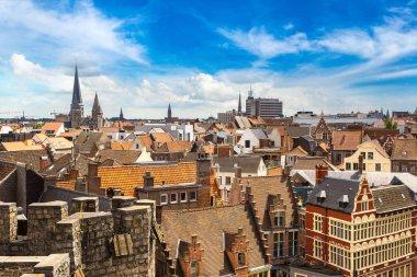 Panoramic aerial view of Gent