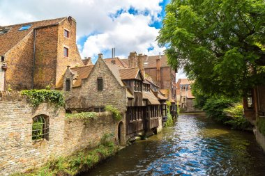 Houses along canal in Bruges