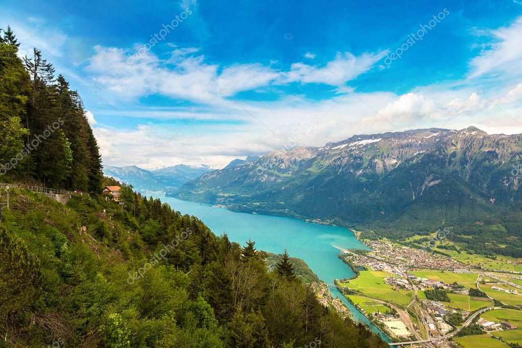 Panoramic airview of Interlaken