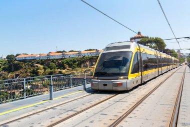 Modern metro train