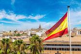 Fotografie Flagge von Spanien und Sevilla
