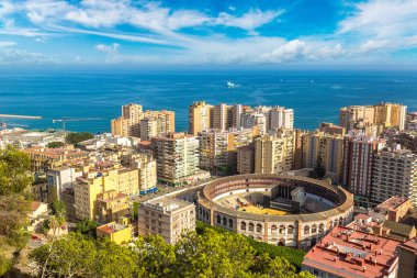Panoramic view of Malaga