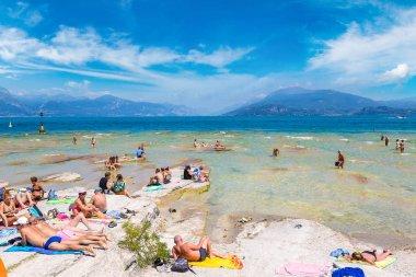 Garda lake and Public beach