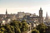 Edinburgh castle ze Calton Hill