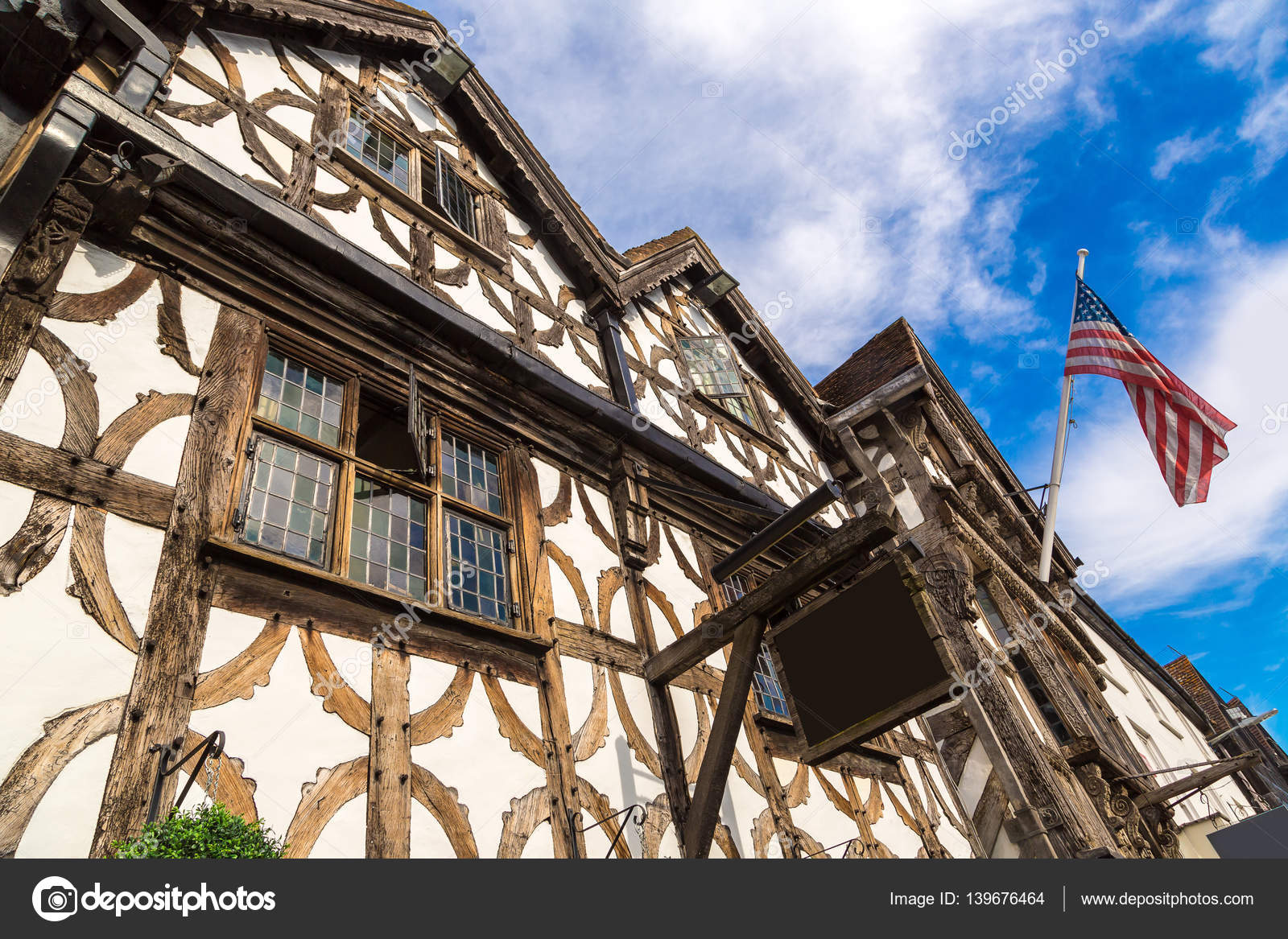 Half timbered house in stratford stock photo bloodua for Half timbered house plans