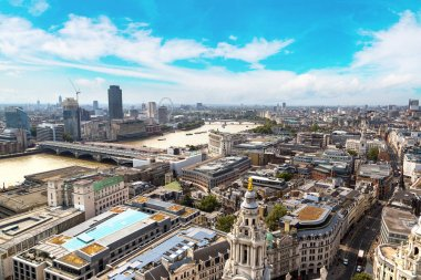 Panoramic aerial view of London