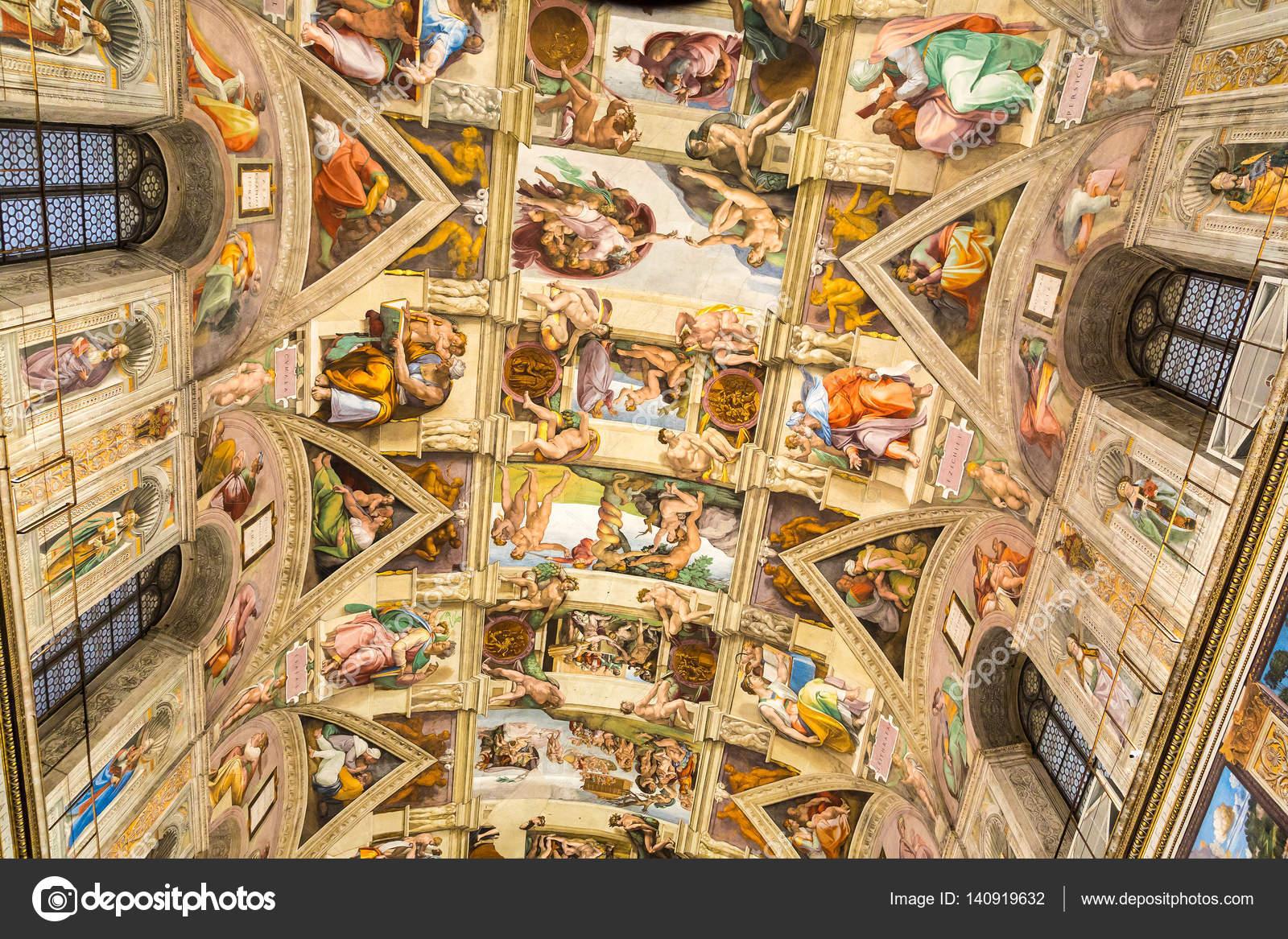 Plafond De La Chapelle Sixtine Photo Editoriale C Bloodua 140919632