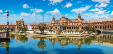 Panorama of Spanish Square in Sevilla